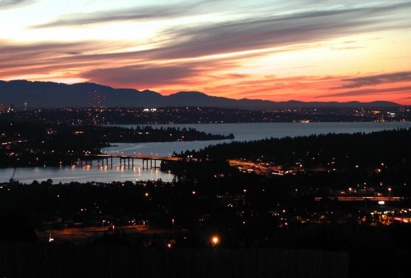 View of Seattle region from Sommerset