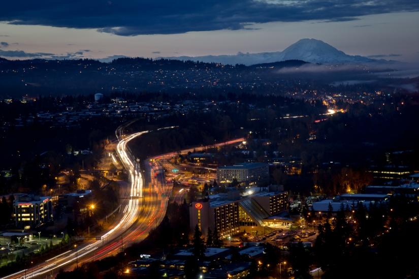 Blue Hour Commute - Bellevue